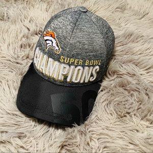 NFL Broncos Super Bowl Champions Velcro Back Hat